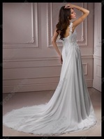 Свадебное платье Sheath One Shoulder Elegant Chiffon Wedding Dress MD-B057