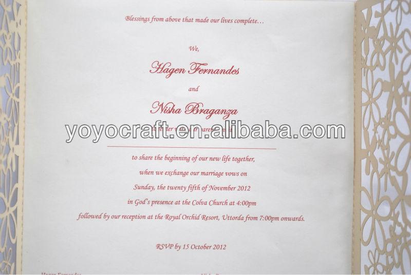 Fürihre Besondere Hochzeit! Luxus Hochzeit Karte Einladung, Einladungs