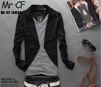 Мужская футболка 2013 Spring new Korean male leisure moral false two piece suit style long sleeve T shirts