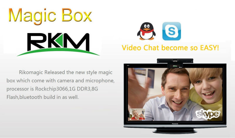 Rikomagic MK602 Magic MINI PC Android4.1 1G RAM 8G flash build in bluetooth camera and microphone