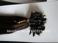 24INCH  100g/pack AAA nail hair U shape  hair extensions 100% Indian remy keratin  Human Hair 18''-24''