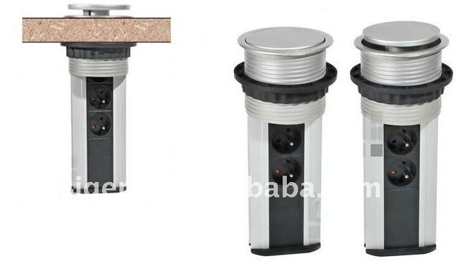 Milan pop-up kitchen multi socket HZM-03L with CE