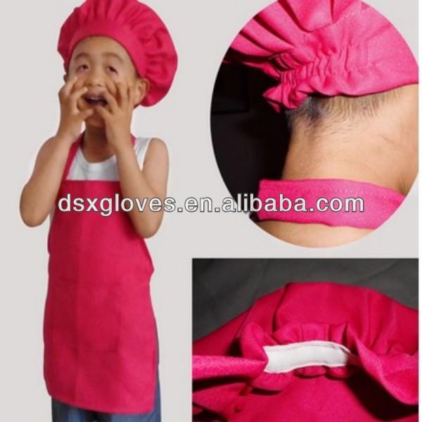 Mini kids sombreros de chef y babero delantales conjunto fabricante