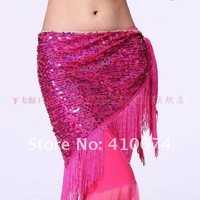 Женская одежда China post dancing belly dance flashing sequins tassel hanging hip scarf wrap belt wear costume