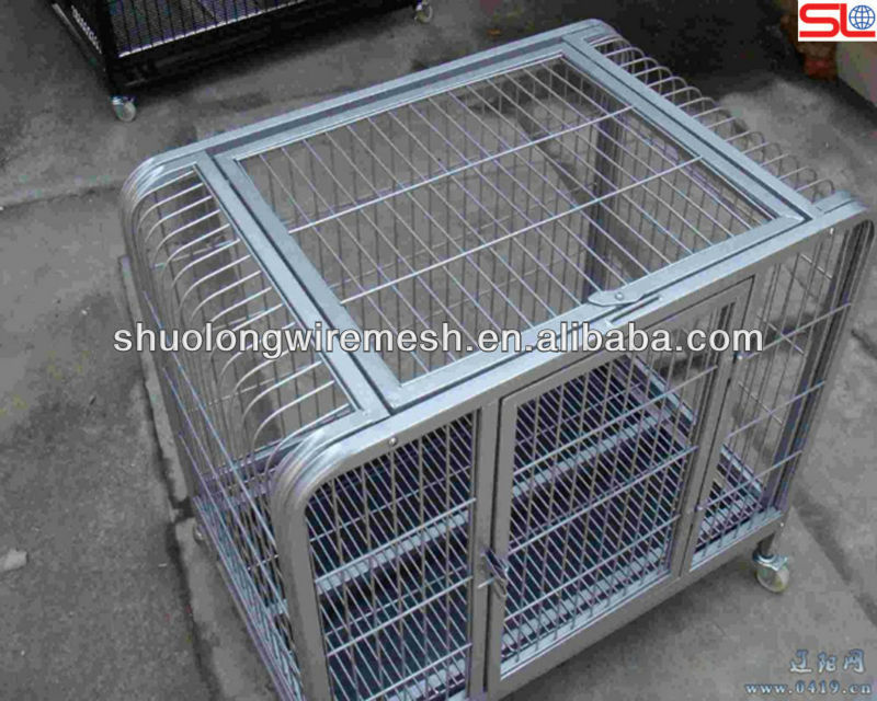 Many colors safty pet tube kennel,strong steel bar pet cage,sloping dog cages .