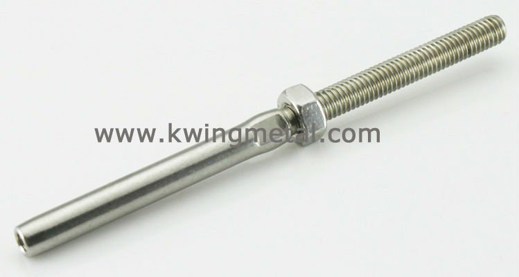 Stainless steel wire rope swage fittings view