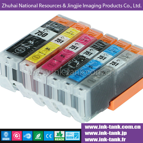 2014 new ink cartridge,compatible canon pgi-750 cli-751 ink cartridge with chip