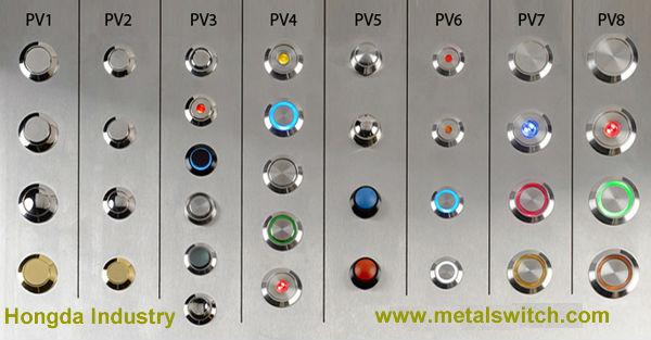 illuminated metal push button switch