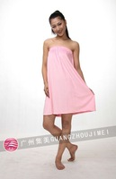 2012 new wiping a bosom lovely type leisure lady bath skirt hairdresser overalls bathrobe beauty take multiple color