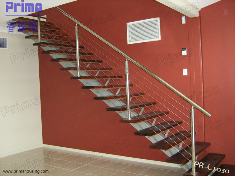 New Design Wood Stairs Stainless Steel Balustrade Designs