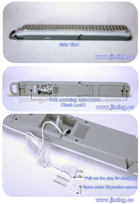 JIMING: LE928-90L (High Quality) 90 LED Emergency light with handle and wall mounting