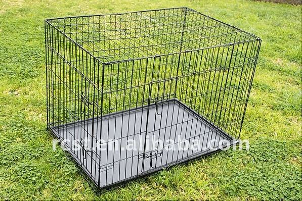 collapsible small mesh wire dog cage crate