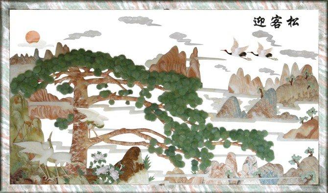 relievo jade stone sculpture