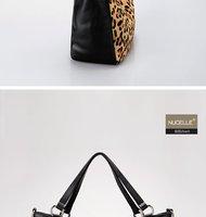 New arrival Low temperature drift series warm series Leopard Genunie Leather handbags women fashion shoulder bags Free shipping