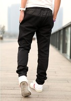 free shipping 2012 new fashion men's casual sport pants logo embroidery design black gray leisure straight trousers M-XXL YJ417