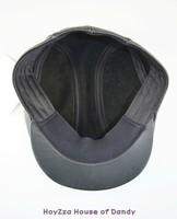 Женский берет Leather black Newsboy Beret hat Cabbie peaked beret Gatsby Flat Cap