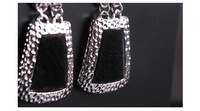 Серьги висячие New design horsehide black drop earrings Acrylic sheet earrings reached 20USD