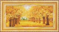 Товары для ручных поделок Cross-stitch scenery gold all over the floor