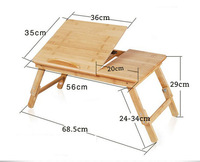 Складной стол Folding La Bamboo laptop Desk Table Stand attachment Notebook table Computer Desk