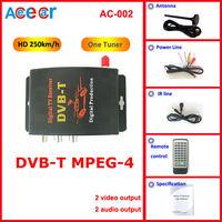 Специализированный магазин New! Car Mobile HD DVBT Receiver digital TV Car TV receiver Tuner compatible mpeg4+mpeg2 composite CVBS with 2 video output