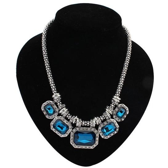 3 цвета Корейский популярные моды богемы национальной ветер смолы геометрические цепи ожерелье заявление ожерелье для женщин