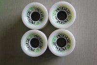free shipping 70*52mm PU longboard wheels hot sale white 78A soft long skateboard wheels 5set/lot