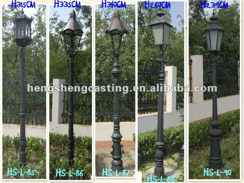 four arm antique cast iron garden lamps