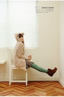 NEW for autumn and winter, unique lovely bunny ears long style ladies hoodies jacket coat