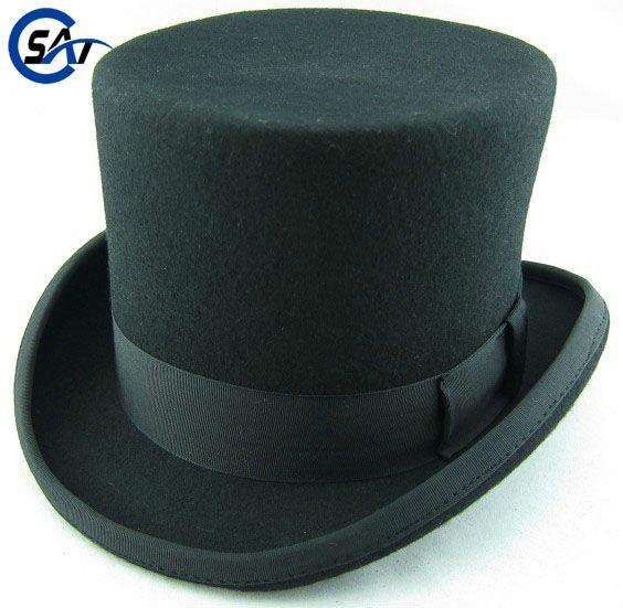 Top Hat Pattern Cardboard Festival 100% wool felt red top hat with ...