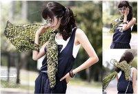 Cheap new graffiti fluorescent letters chiffon shawl scarf Long Beautiful women Silky Rayon scarf Scarves