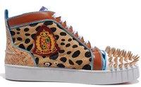 Мужские кроссовки latest fashion men casual gold spike shoes 2012