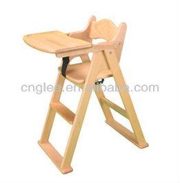 Excelente silla de madera para el beb de comedor sillitas for Silla de bebe de madera