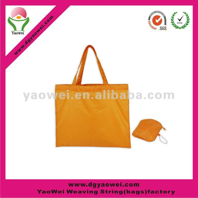 foldable recycle bag/600Dpolyester foldable shopping bag