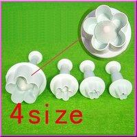 Украшения для выпечки cake mold cake decoration flower style cutter whitre new 4PCS/SET
