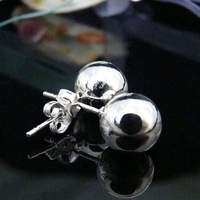 mini order 10USD jewelry silver plated solid ball European style Bride earring fashion jewelry