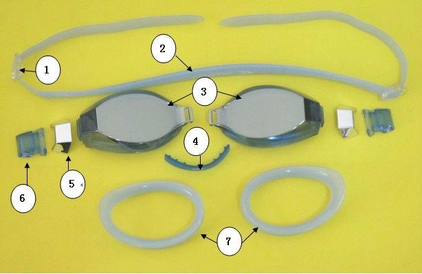 2014 high quality swimming goggles aiti-fog coating