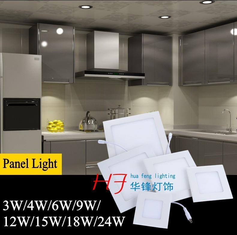 Аварийное освещение 15w 1050LM square led panel light spot light down light tetris lamp led lamp
