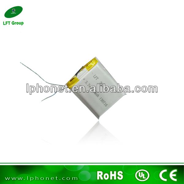 265065 li-polymer 3.7v 800mah rechargeable li-ion battery electric toys