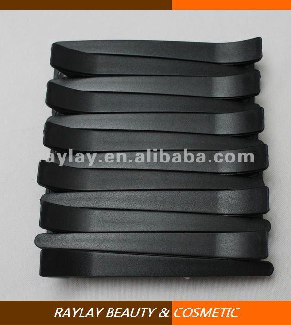 12 pcs giant black matte plastic section salon hair clip for hairdressing