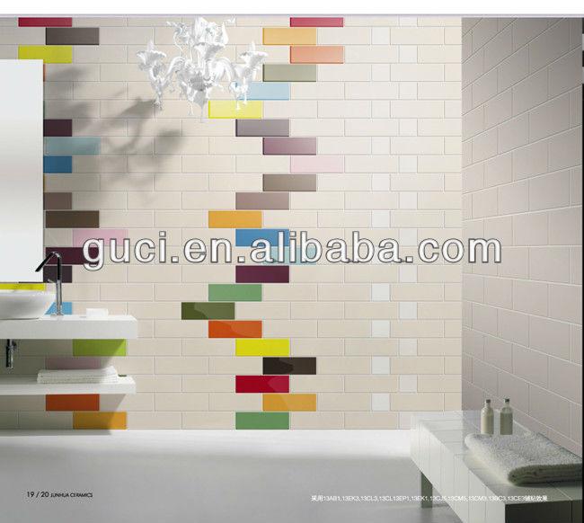 colorato 100x300mm stanza da bagno piastrelle di ceramica parete design