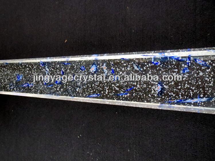 Blue Rose Decorative Crystal Glass Pillars
