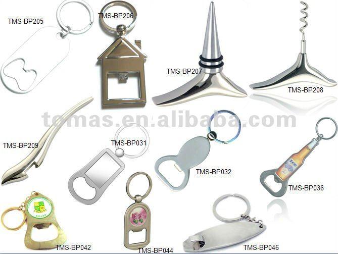 blue color Aluminum bottle cap opener key chain, gift, promotional gift