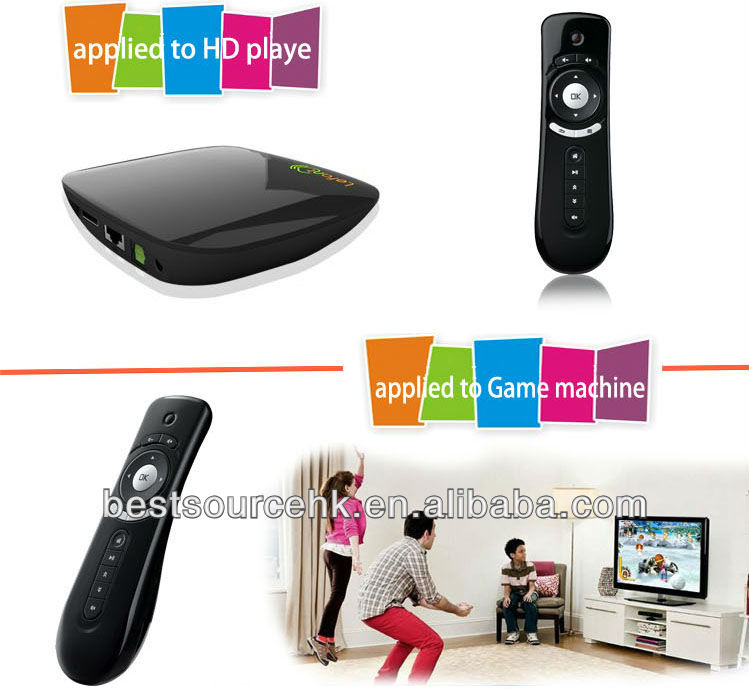 2.4G wireless infrared remote control fly Air Mouse with 3D Motion Stick for Smart TV Android TV Box Player Air mouse