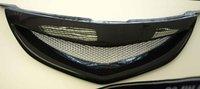 mazda 3 2003-2008 высокого качества из нержавеющей стали передняя решетка вокруг отделки гонки грили отделкой