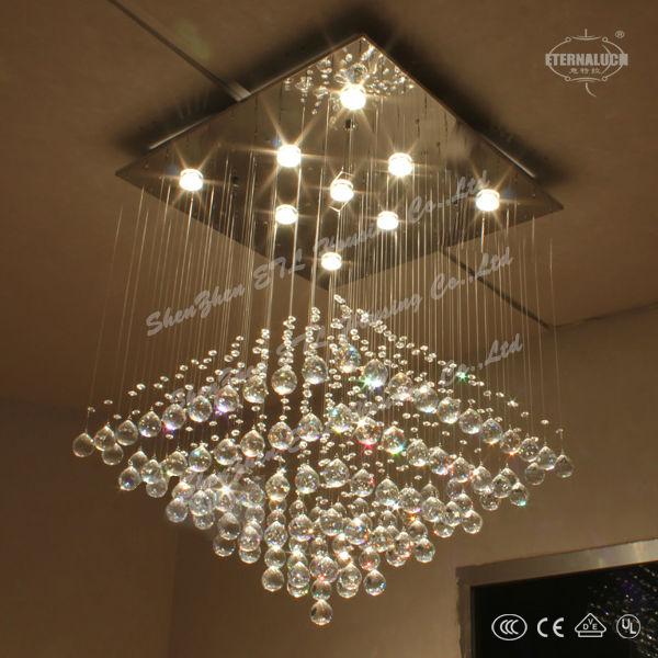 Barato moderna araña de cristal de luz, lámpara del hotel etl82028 ...
