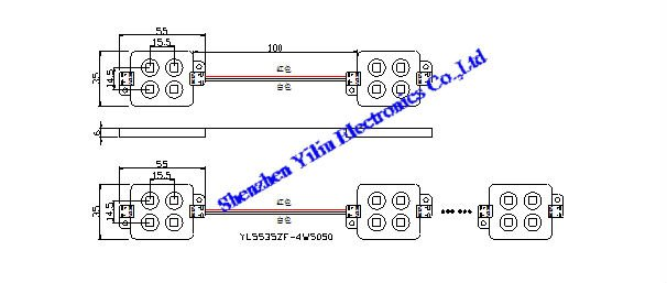 High brightness injection 5050 LED module light