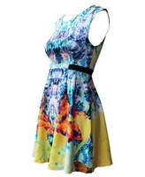 Женское платье shoping Abstract print puff dress fashion.Casual dress TB 2021