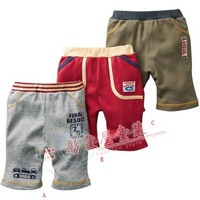 Baby boy cotton stockinet shortclothes over knee trousers for summer 3 color for 1~5Y free shipping drop shipping