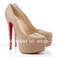 Туфли на высоком каблуке sheepskin nude platform pumps high heels 2012 -14/16cm