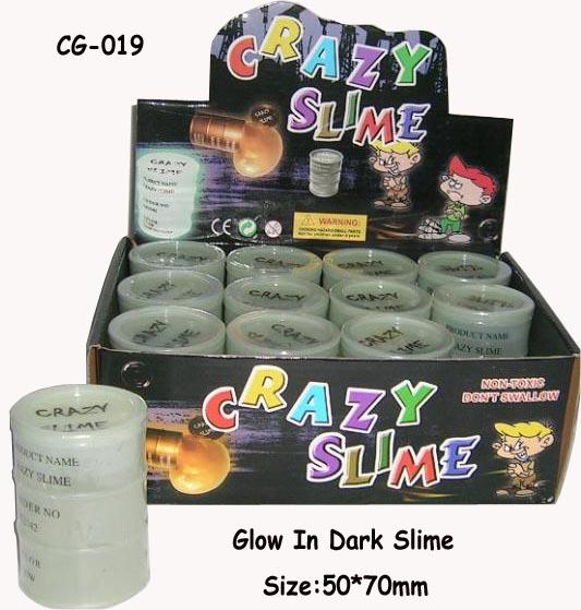 funny Glowing in the dark barrel oil slime